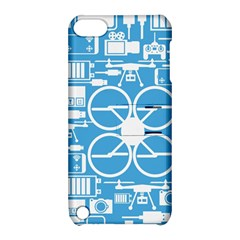 Drones Registration Equipment Game Circle Blue White Focus Apple Ipod Touch 5 Hardshell Case With Stand by Mariart