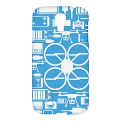 Drones Registration Equipment Game Circle Blue White Focus Samsung Galaxy S4 I9500/i9505 Hardshell Case by Mariart