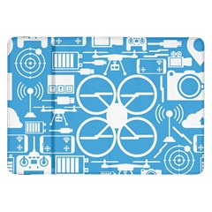 Drones Registration Equipment Game Circle Blue White Focus Samsung Galaxy Tab 8 9  P7300 Flip Case by Mariart