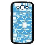 Drones Registration Equipment Game Circle Blue White Focus Samsung Galaxy Grand DUOS I9082 Case (Black) Front