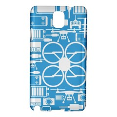 Drones Registration Equipment Game Circle Blue White Focus Samsung Galaxy Note 3 N9005 Hardshell Case by Mariart