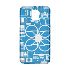 Drones Registration Equipment Game Circle Blue White Focus Samsung Galaxy S5 Hardshell Case  by Mariart