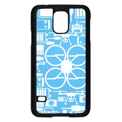 Drones Registration Equipment Game Circle Blue White Focus Samsung Galaxy S5 Case (black) by Mariart