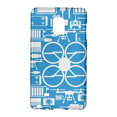 Drones Registration Equipment Game Circle Blue White Focus Galaxy Note Edge by Mariart