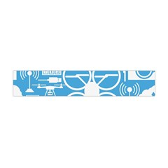 Drones Registration Equipment Game Circle Blue White Focus Flano Scarf (mini) by Mariart
