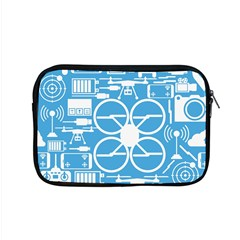 Drones Registration Equipment Game Circle Blue White Focus Apple Macbook Pro 15  Zipper Case by Mariart