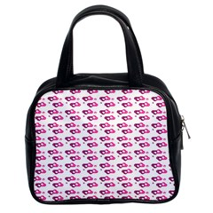 Heart Love Pink Purple Classic Handbags (2 Sides) by Mariart