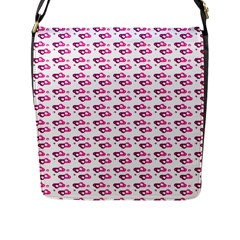 Heart Love Pink Purple Flap Messenger Bag (l)  by Mariart