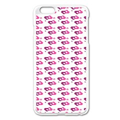 Heart Love Pink Purple Apple Iphone 6 Plus/6s Plus Enamel White Case by Mariart