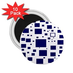 Illustrated Blue Squares 2 25  Magnets (10 Pack)  by Mariart