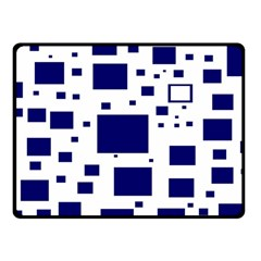 Illustrated Blue Squares Fleece Blanket (small)