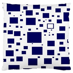 Illustrated Blue Squares Large Cushion Case (one Side) by Mariart