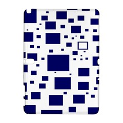 Illustrated Blue Squares Galaxy Note 1 by Mariart