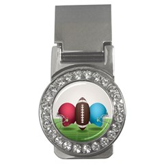 Helmet Ball Football America Sport Red Brown Blue Green Money Clips (cz)  by Mariart