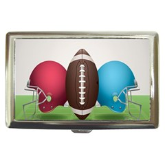 Helmet Ball Football America Sport Red Brown Blue Green Cigarette Money Cases by Mariart