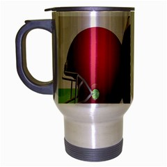 Helmet Ball Football America Sport Red Brown Blue Green Travel Mug (silver Gray) by Mariart