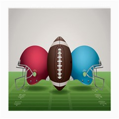 Helmet Ball Football America Sport Red Brown Blue Green Medium Glasses Cloth