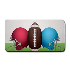 Helmet Ball Football America Sport Red Brown Blue Green Medium Bar Mats by Mariart