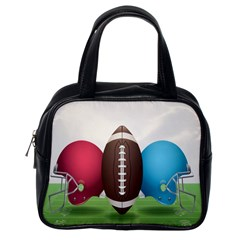 Helmet Ball Football America Sport Red Brown Blue Green Classic Handbags (one Side) by Mariart