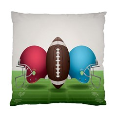 Helmet Ball Football America Sport Red Brown Blue Green Standard Cushion Case (two Sides) by Mariart