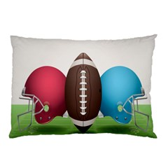 Helmet Ball Football America Sport Red Brown Blue Green Pillow Case by Mariart