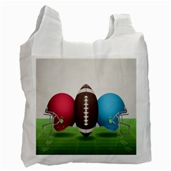 Helmet Ball Football America Sport Red Brown Blue Green Recycle Bag (one Side) by Mariart