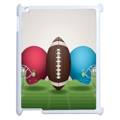 Helmet Ball Football America Sport Red Brown Blue Green Apple Ipad 2 Case (white) by Mariart