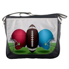 Helmet Ball Football America Sport Red Brown Blue Green Messenger Bags by Mariart