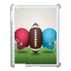 Helmet Ball Football America Sport Red Brown Blue Green Apple Ipad 3/4 Case (white) by Mariart