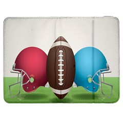 Helmet Ball Football America Sport Red Brown Blue Green Samsung Galaxy Tab 7  P1000 Flip Case by Mariart