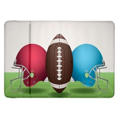 Helmet Ball Football America Sport Red Brown Blue Green Samsung Galaxy Tab 8 9  P7300 Flip Case by Mariart