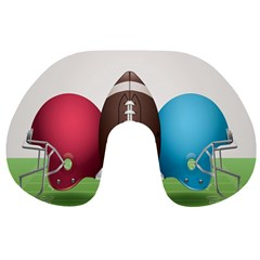 Helmet Ball Football America Sport Red Brown Blue Green Travel Neck Pillows by Mariart