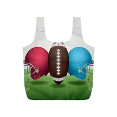 Helmet Ball Football America Sport Red Brown Blue Green Full Print Recycle Bags (s)  by Mariart