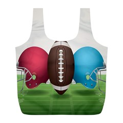Helmet Ball Football America Sport Red Brown Blue Green Full Print Recycle Bags (l)  by Mariart