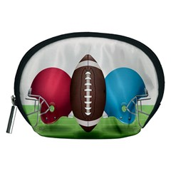 Helmet Ball Football America Sport Red Brown Blue Green Accessory Pouches (medium)  by Mariart