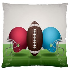 Helmet Ball Football America Sport Red Brown Blue Green Standard Flano Cushion Case (one Side) by Mariart