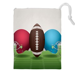 Helmet Ball Football America Sport Red Brown Blue Green Drawstring Pouches (xxl) by Mariart