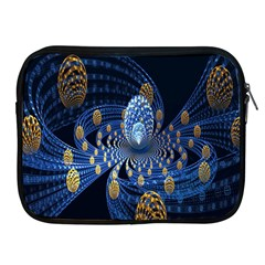 Fractal Balls Flying Ultra Space Circle Round Line Light Blue Sky Gold Apple Ipad 2/3/4 Zipper Cases by Mariart