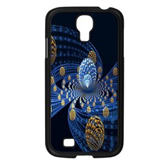Fractal Balls Flying Ultra Space Circle Round Line Light Blue Sky Gold Samsung Galaxy S4 I9500/ I9505 Case (black) by Mariart