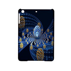 Fractal Balls Flying Ultra Space Circle Round Line Light Blue Sky Gold Ipad Mini 2 Hardshell Cases