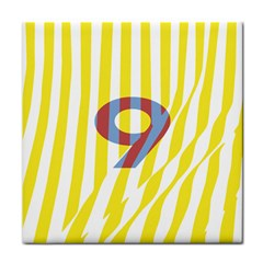 Number 9 Line Vertical Yellow Red Blue White Wae Chevron Tile Coasters by Mariart