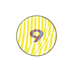 Number 9 Line Vertical Yellow Red Blue White Wae Chevron Hat Clip Ball Marker (4 Pack) by Mariart