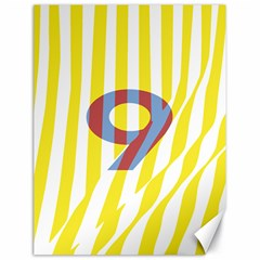 Number 9 Line Vertical Yellow Red Blue White Wae Chevron Canvas 18  X 24   by Mariart