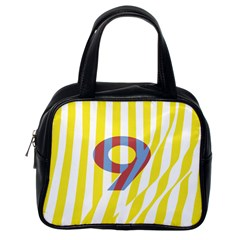 Number 9 Line Vertical Yellow Red Blue White Wae Chevron Classic Handbags (one Side) by Mariart