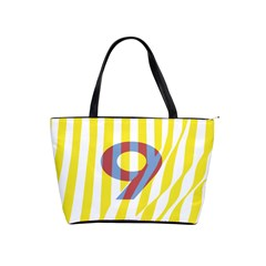 Number 9 Line Vertical Yellow Red Blue White Wae Chevron Shoulder Handbags