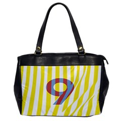 Number 9 Line Vertical Yellow Red Blue White Wae Chevron Office Handbags by Mariart