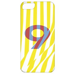 Number 9 Line Vertical Yellow Red Blue White Wae Chevron Apple Iphone 5 Classic Hardshell Case by Mariart