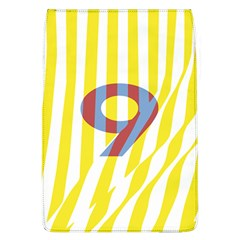 Number 9 Line Vertical Yellow Red Blue White Wae Chevron Flap Covers (l)  by Mariart