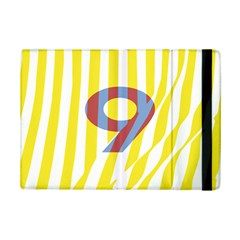 Number 9 Line Vertical Yellow Red Blue White Wae Chevron Ipad Mini 2 Flip Cases by Mariart