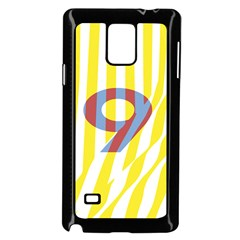 Number 9 Line Vertical Yellow Red Blue White Wae Chevron Samsung Galaxy Note 4 Case (black) by Mariart